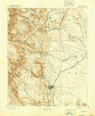Las Vegas New Mexico Historical topographic map, 1:125000 scale, 30 X 30 Minute, Year 1893