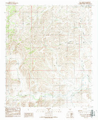 Loco Canyon New Mexico Historical topographic map, 1:24000 scale, 7.5 X 7.5 Minute, Year 1989