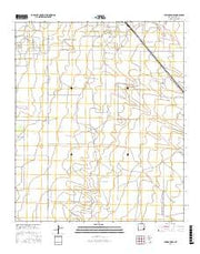 Lovington SE New Mexico Current topographic map, 1:24000 scale, 7.5 X 7.5 Minute, Year 2017 from New Mexico Maps Store