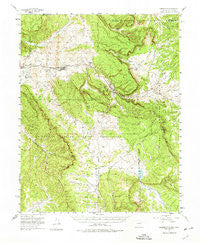 Lumberton New Mexico Historical topographic map, 1:62500 scale, 15 X 15 Minute, Year 1955