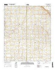 Maljamar New Mexico Current topographic map, 1:24000 scale, 7.5 X 7.5 Minute, Year 2017 from New Mexico Maps Store