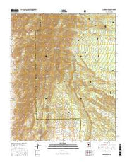 Manzano Peak New Mexico Current topographic map, 1:24000 scale, 7.5 X 7.5 Minute, Year 2017 from New Mexico Maps Store