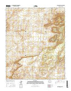 Mariano Springs New Mexico Current topographic map, 1:24000 scale, 7.5 X 7.5 Minute, Year 2017 from New Mexico Map Store