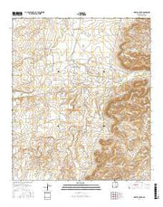 Martha Creek New Mexico Current topographic map, 1:24000 scale, 7.5 X 7.5 Minute, Year 2017 from New Mexico Maps Store