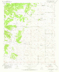 Milbourn Ranch New Mexico Historical topographic map, 1:24000 scale, 7.5 X 7.5 Minute, Year 1954