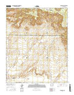 Moreno Hill New Mexico Current topographic map, 1:24000 scale, 7.5 X 7.5 Minute, Year 2017 from New Mexico Map Store