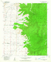 Mount Washington New Mexico Historical topographic map, 1:24000 scale, 7.5 X 7.5 Minute, Year 1954