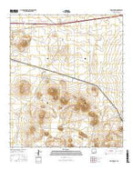 Mount Aden New Mexico Current topographic map, 1:24000 scale, 7.5 X 7.5 Minute, Year 2017 from New Mexico Map Store