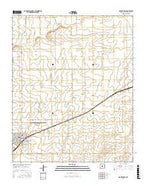 Mountainair New Mexico Current topographic map, 1:24000 scale, 7.5 X 7.5 Minute, Year 2017 from New Mexico Map Store