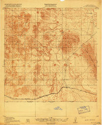 Mt. Riley New Mexico Historical topographic map, 1:62500 scale, 15 X 15 Minute, Year 1918