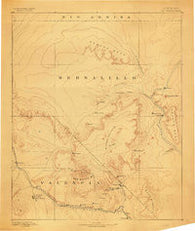 Mt. Taylor New Mexico Historical topographic map, 1:250000 scale, 1 X 1 Degree, Year 1883