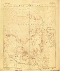 Mt. Taylor New Mexico Historical topographic map, 1:250000 scale, 1 X 1 Degree, Year 1886