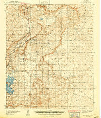 Nash Draw New Mexico Historical topographic map, 1:62500 scale, 15 X 15 Minute, Year 1943
