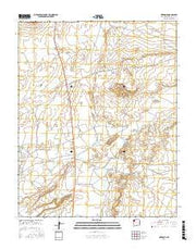 Newcomb New Mexico Current topographic map, 1:24000 scale, 7.5 X 7.5 Minute, Year 2017 from New Mexico Maps Store