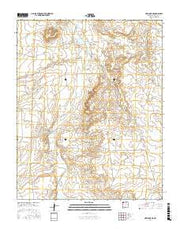 Newcomb NE New Mexico Current topographic map, 1:24000 scale, 7.5 X 7.5 Minute, Year 2017 from New Mexico Maps Store