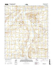 Newcomb SE New Mexico Current topographic map, 1:24000 scale, 7.5 X 7.5 Minute, Year 2017 from New Mexico Maps Store