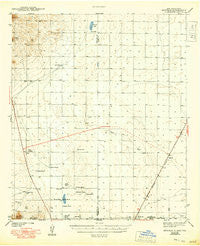 Newman New Mexico Historical topographic map, 1:62500 scale, 15 X 15 Minute, Year 1943