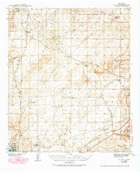 Oil City New Mexico Historical topographic map, 1:62500 scale, 15 X 15 Minute, Year 1943