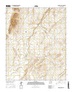 Orndorff Ranch New Mexico Current topographic map, 1:24000 scale, 7.5 X 7.5 Minute, Year 2017 from New Mexico Map Store