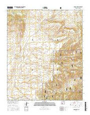 Paddys Hole New Mexico Current topographic map, 1:24000 scale, 7.5 X 7.5 Minute, Year 2017 from New Mexico Maps Store