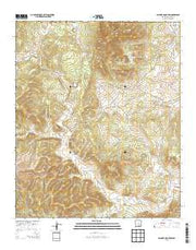 Pajarita Mountain New Mexico Current topographic map, 1:24000 scale, 7.5 X 7.5 Minute, Year 2013 from New Mexico Maps Store