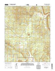 Paxton Springs New Mexico Current topographic map, 1:24000 scale, 7.5 X 7.5 Minute, Year 2013 from New Mexico Maps Store