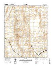 Pedernal New Mexico Current topographic map, 1:24000 scale, 7.5 X 7.5 Minute, Year 2017 from New Mexico Maps Store