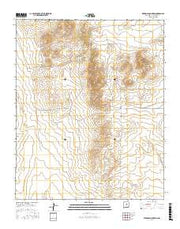 Pedernal Mountain New Mexico Current topographic map, 1:24000 scale, 7.5 X 7.5 Minute, Year 2017 from New Mexico Maps Store