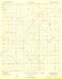 Peters Lake New Mexico Historical topographic map, 1:24000 scale, 7.5 X 7.5 Minute, Year 1949