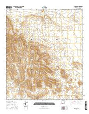 Pierce Peak New Mexico Current topographic map, 1:24000 scale, 7.5 X 7.5 Minute, Year 2017 from New Mexico Maps Store