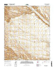 Priest Tank New Mexico Current topographic map, 1:24000 scale, 7.5 X 7.5 Minute, Year 2017 from New Mexico Maps Store
