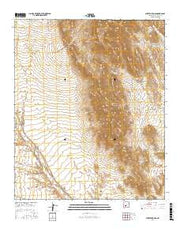 Puertecito Gap New Mexico Current topographic map, 1:24000 scale, 7.5 X 7.5 Minute, Year 2017 from New Mexico Maps Store