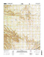 Punta de Agua New Mexico Current topographic map, 1:24000 scale, 7.5 X 7.5 Minute, Year 2017 from New Mexico Map Store