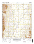 Rodeo New Mexico Current topographic map, 1:24000 scale, 7.5 X 7.5 Minute, Year 2017 from New Mexico Map Store