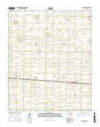 Saint Vrain New Mexico Current topographic map, 1:24000 scale, 7.5 X 7.5 Minute, Year 2017 from New Mexico Map Store