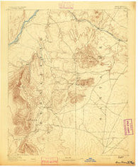 San Pedro New Mexico Historical topographic map, 1:125000 scale, 30 X 30 Minute, Year 1892