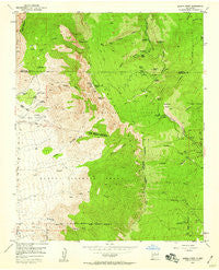 Sandia Crest New Mexico Historical topographic map, 1:24000 scale, 7.5 X 7.5 Minute, Year 1954
