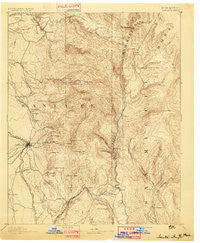 Santa Fe New Mexico Historical topographic map, 1:125000 scale, 30 X 30 Minute, Year 1894