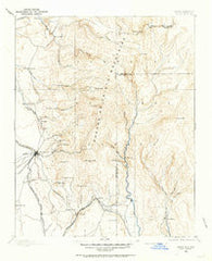 Santa Fe New Mexico Historical topographic map, 1:125000 scale, 30 X 30 Minute, Year 1889