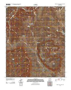 Sierra Larga North New Mexico Historical topographic map, 1:24000 scale, 7.5 X 7.5 Minute, Year 2010