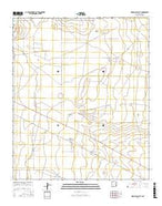 Simanola Valley New Mexico Current topographic map, 1:24000 scale, 7.5 X 7.5 Minute, Year 2017 from New Mexico Map Store