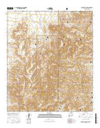 Skeleton Canyon New Mexico Current topographic map, 1:24000 scale, 7.5 X 7.5 Minute, Year 2017 from New Mexico Map Store