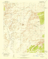 Sky Village New Mexico Historical topographic map, 1:24000 scale, 7.5 X 7.5 Minute, Year 1954