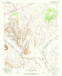 South Garcia New Mexico Historical topographic map, 1:24000 scale, 7.5 X 7.5 Minute, Year 1954