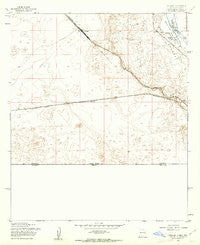 Strauss New Mexico Historical topographic map, 1:24000 scale, 7.5 X 7.5 Minute, Year 1955