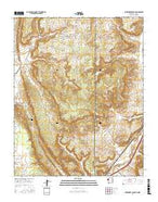 Surrender Canyon New Mexico Current topographic map, 1:24000 scale, 7.5 X 7.5 Minute, Year 2017 from New Mexico Map Store
