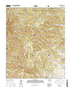 Tajique New Mexico Current topographic map, 1:24000 scale, 7.5 X 7.5 Minute, Year 2017 from New Mexico Map Store