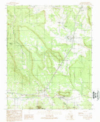 Tecolote New Mexico Historical topographic map, 1:24000 scale, 7.5 X 7.5 Minute, Year 1989