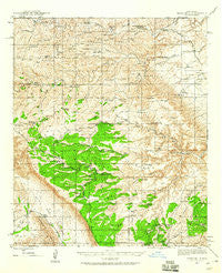 Texas Hill New Mexico Historical topographic map, 1:62500 scale, 15 X 15 Minute, Year 1943
