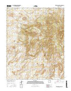 Tres Hermanos Peak New Mexico Current topographic map, 1:24000 scale, 7.5 X 7.5 Minute, Year 2017 from New Mexico Map Store